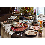 Sabyasachi Mukherjee exclusively for Pottery Barn Floral and Animal Dinnerware Collections (Photo: Business Wire)
