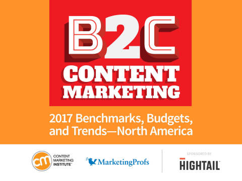 Content Marketing Institute Releases New Research on State of Business-to-Consumer (B2C) Content Marketing in North America (Graphic: Business Wire)
