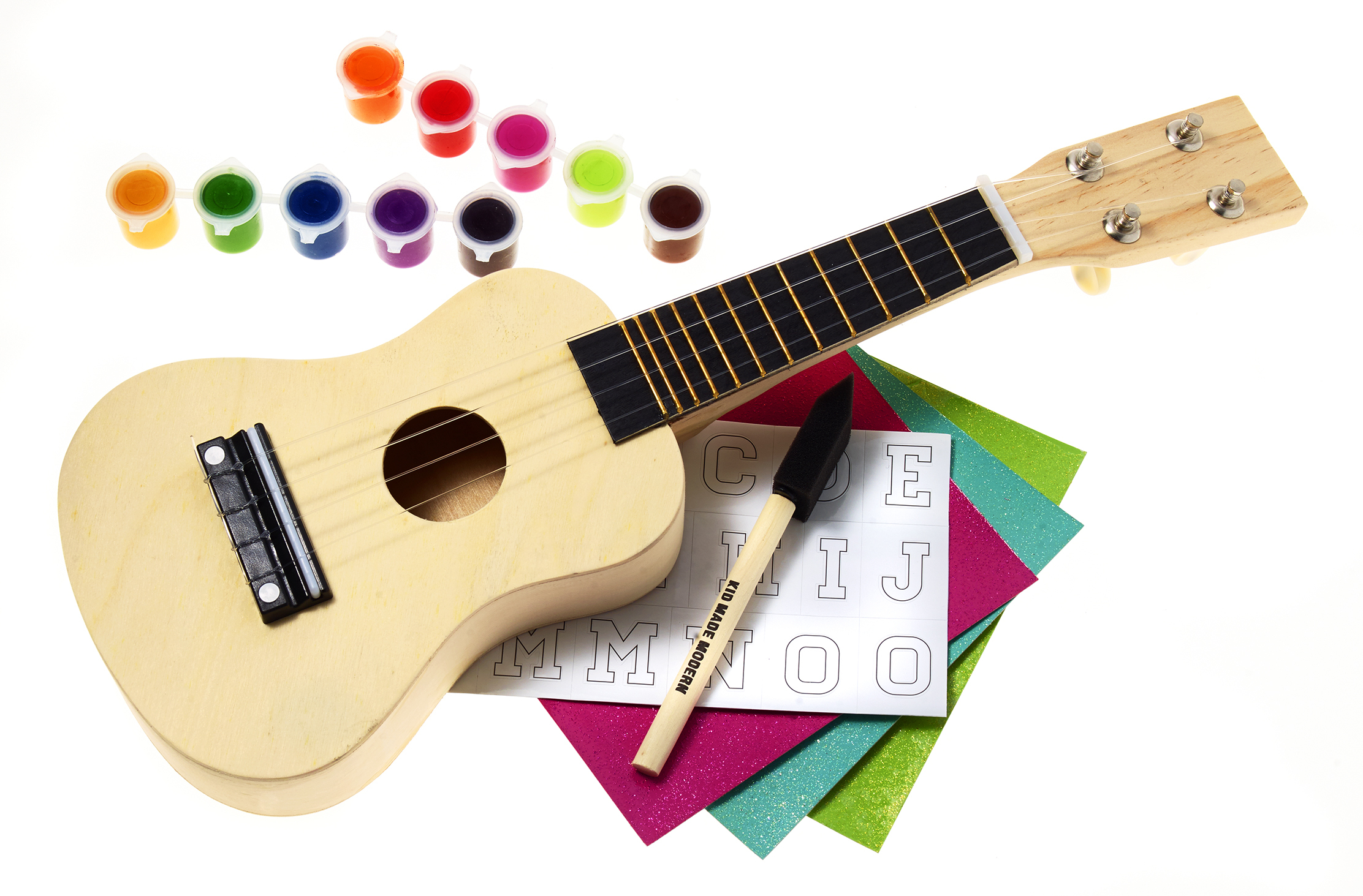 Find the perfect gift for everyone on your list this holiday season at Macy's stores and on macys.com; Kid Made Modern Ukulele Stencil Kit, $29.99. (Photo: Business Wire)