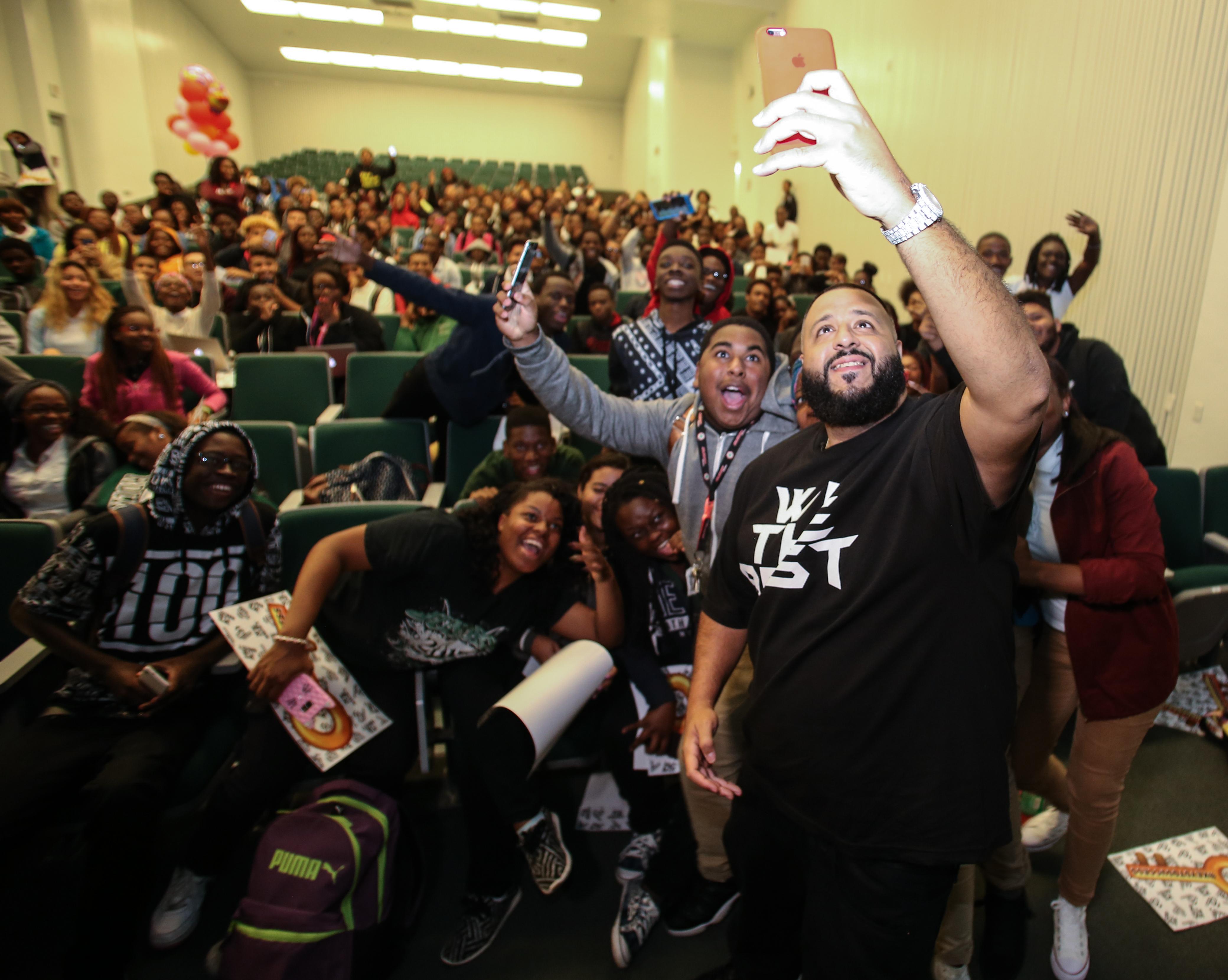 DJ Khaled surprise visit to Miami Central High School. (Photo: Business Wire)