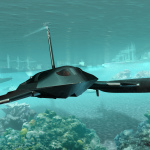 Guardian conducting underwater surveillance.