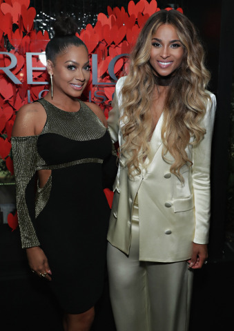 Revlon Global Brand Ambassador Ciara poses with Lala Anthony at the RevlonXCiara Launch Event in New ...