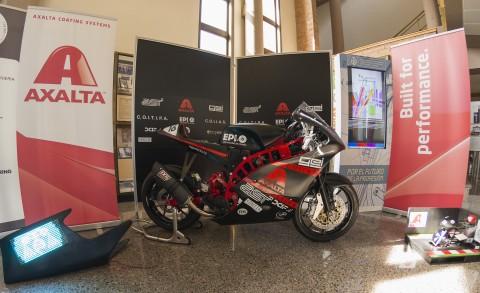 Axalta-sponsored Wolfast UniOvi MotoStudent IV motorbike finished with waterborne paint technology (Photo: Axalta)