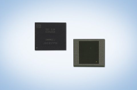 Samsung 8GB LPDDR4 mobile DRAM (Photo: Business Wire)
