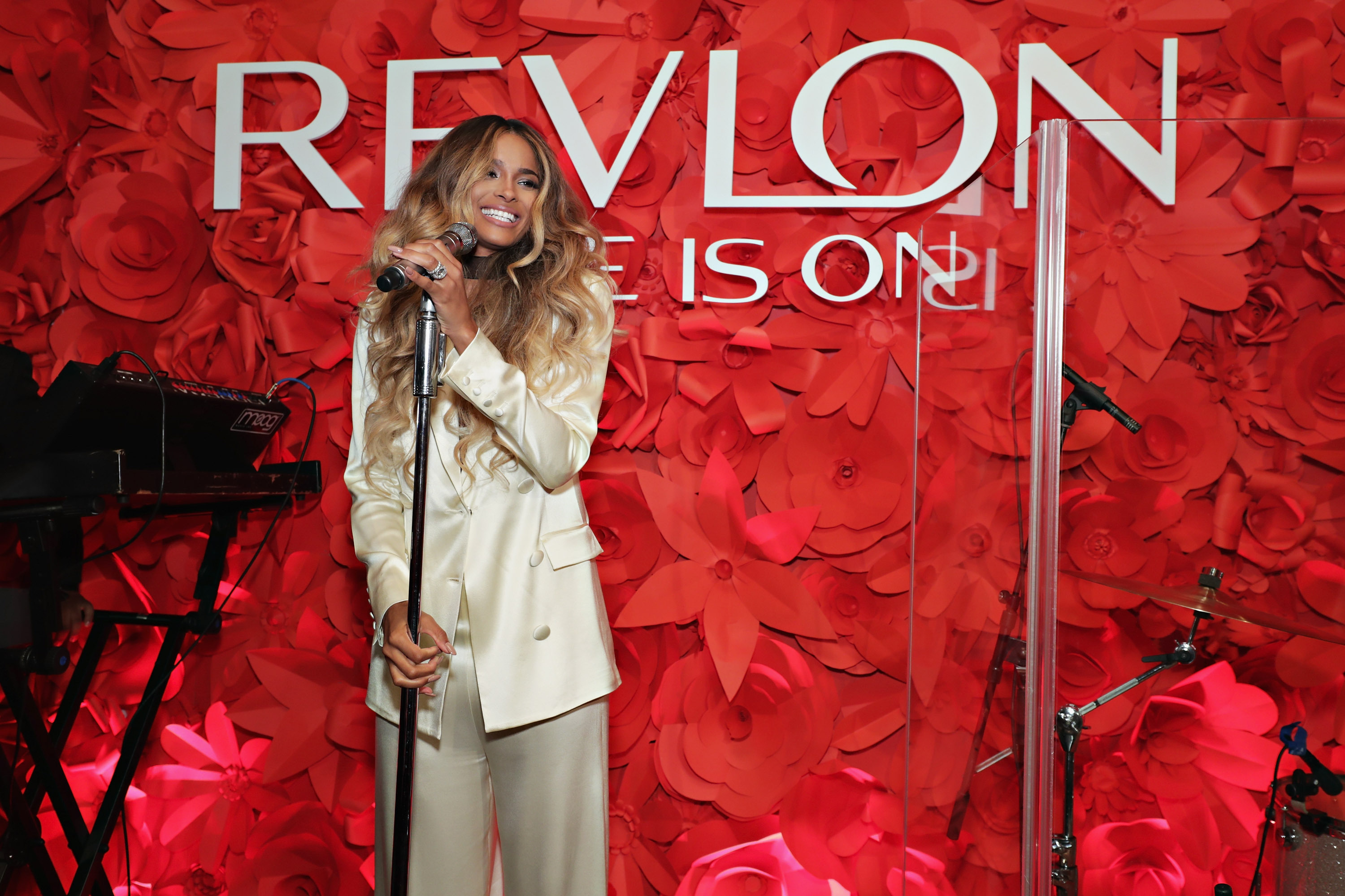 Revlon Brand Ambassador Ciara Performs on Stage at the RevlonXCiara Launch Event in New York City/Refinery Hotel (Photo: Business Wire)