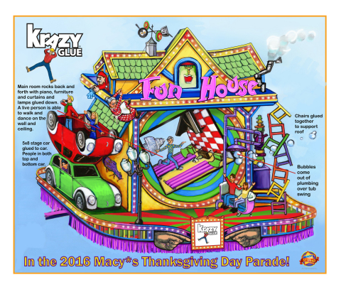 Krazy Glue debuts Fun House, the newest float in the 90th Anniversary Macy's Thanksgiving Day Parade (Photo: Business Wire)