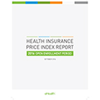 eHealth's Health Insurance Price Index Report for the 2016 Open Enrollment Period