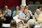 Musical Minds Choir members rejoice during weekly rehearsals of the first Florida-based community-wide performance group for individuals experiencing dementia and Alzheimer's disease, created by Watercrest Senior Living Group and CFCArts in Orlando. (Photo: Business Wire)