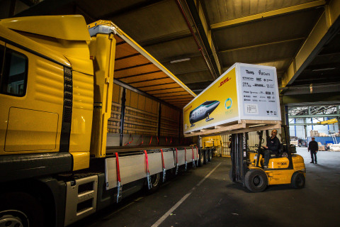 DHL Express is transporting the Delft Hyperloop from Delft University in the Netherlands to SpaceX Headquarters in California for SpaceX's upcoming Hyperloop Pod Competition. (Photo: Business Wire)