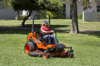 Kubota introduces the ZD1500, featuring the innovative Aerodynamic Cutting System which provides for smoother airflow and a more powerful blade rotation resulting in less clumping of clippings, better fuel efficiency and faster cutting performance. (Photo: Business Wire)