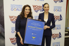 """The United Nations designated Wonder Woman as the UN Honorary Ambassador for the Empowerment of Women and Girls in a ceremony onFriday, October 21,a date that also commemorates the iconic Super Hero's official 75th anniversary. On hand to mark thehistoricoccasion wereLynda Carter, star of the 1970s television series and Gal Gadot, the star of the forthcoming """"Wonder Woman"""" feature film. (Photo: Business Wire)"""