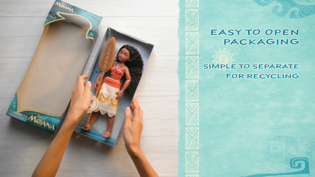 The Classic Moana doll box itself can be turned into a boat inspired by Moana's journey, providing an added element of fun for parents and kids.