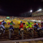 The Gate Drop is one of the most exciting aspects of Monster Energy Supercross as every racer is trying to get to the first turn – first (Photo: Jeff Kardas)