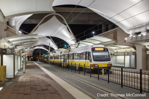 Dallas Area Rapid Transit (DART) Rail Station at Terminal A, Dallas/Fort Worth International Airport, TX, USA. (Photo: Business Wire)
