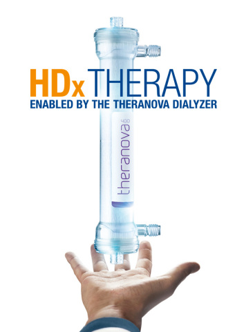 Baxter launches HDx therapy enabled by THERANOVA to provide high performance hemodialysis treatments. (Photo: Business Wire)