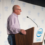 Intel Capital president Wendell Brooks announces $38 million of investments in 12 tech startups at the 2016 Intel Capital Global Summit on Monday, Oct. 24, 2016. The 2016 Intel Capital Global Summit takes place Oct. 24-26 in San Diego, California. (Source: Intel Corporation)