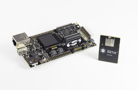 SAMSUNG ARTIK™ 020 and 030 modules leverage Silicon Labs' IoT connectivity technology (Photo: Busine ...