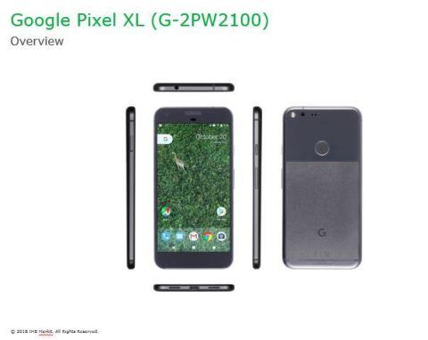 Google Pixel XL Handset — Overview (Graphic: IHS Markit)