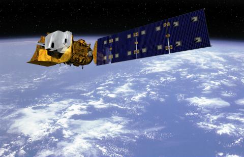 Artist's concept of the Landsat 9 satellite--Credit: Orbital ATK