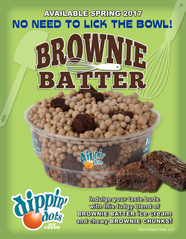 Dippin' Dots Debuts New Brownie Batter Ice Cream (Graphic: Business Wire)