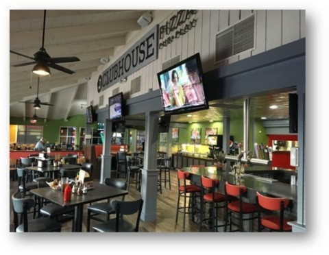 A newly remodeled Round Table Pizza Clubhouse location. (Photo: Business Wire)