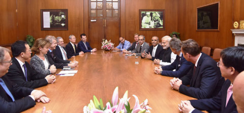 GSMA Board meets with Indian Prime Minister Narendra Modi (Photo: Business Wire)