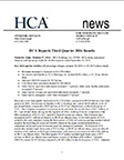 HCA Reports 2016 3Q Results