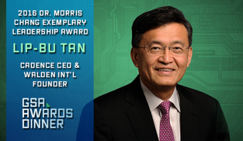 Cadence CEO and Walden International Founder Lip-Bu Tan to be Awarded Dr. Morris Chang Exemplary Leadership Award (Graphic: Business Wire)