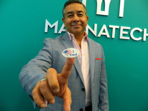 """Mannatech's CEO and President, Alfredo """"Al"""" Bala encourages employees to vote in the upcoming presid ..."""