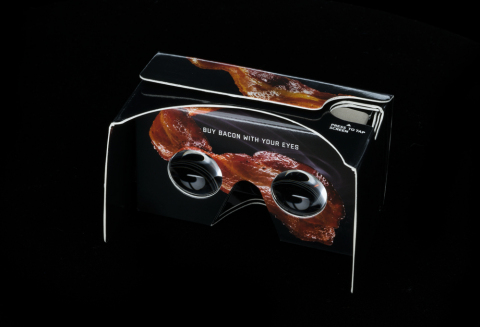 The Bacon Scented Virtual Reality Viewer (Photo: HORMEL BLACK LABEL bacon).
