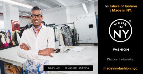 """""""I work, design, and manufacture everything in New York City. You can't be more Made in New York than that!"""" - B Michael (Photo: Business Wire)"""