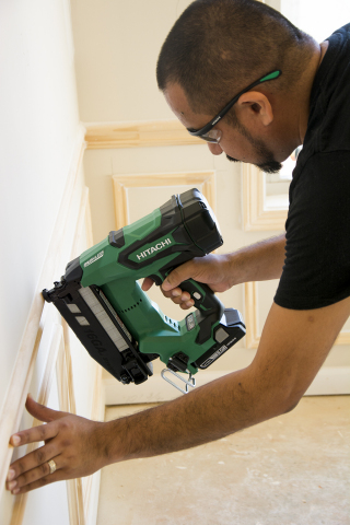 Hitachi Power Tools Cuts the Cord with the Introduction of its New Series of Cordless Brushless Finish Nailers (Photo: Business Wire)
