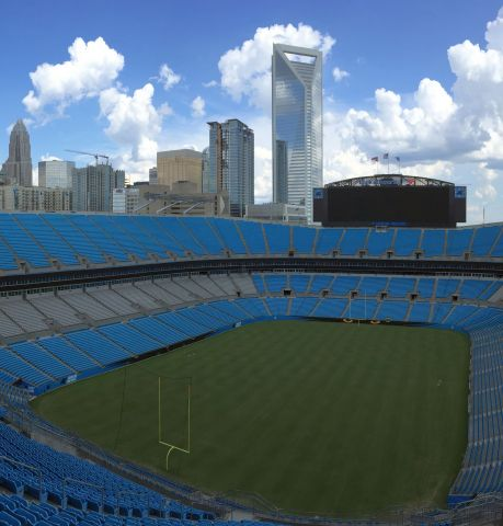 The Carolina Panthers have installed a new Aruba Gigabit Wi-Fi network in their Bank of America Stadium to heighten the fan experience. (Photo: Business Wire)