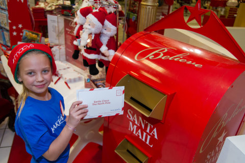 Macy's and Make-A-Wish® team up for the ninth annual Believe campaign, featuring the iconic letter writing program; visit macys.com/believe for more. (Photo: Business Wire)