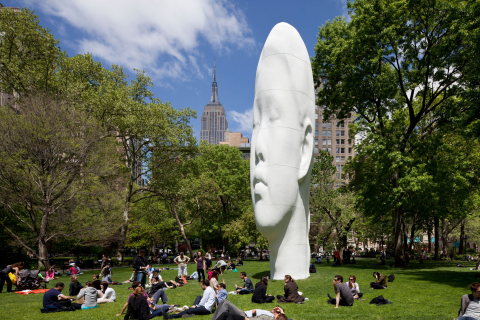 Now a part of the permanent collection of the Seattle Art Museum, Jaume Plensa's Echo was first exhibited in Madison Square Park, New York City in 2011. The work is 46 feet tall and made of polyester resin and marble dust. (Photo: James Ewing)