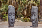 Jaume Plensa's Awilda and Laura reside in the permanent collection of the Palm Springs Art Museum, the generous gift of the Faye and Herman Sarkowsky Foundation. (Photo: David Blank)