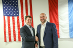 The Luxembourg Government and Planetary Resources finalize €25 Million investment and cooperation agreement with first commercial asteroid prospecting mission to launch by 2020. Planetary Resources' CEO Chris Lewicki and Luxembourg's Deputy Prime Minister Étienne Schneider. (Photo: Business Wire)