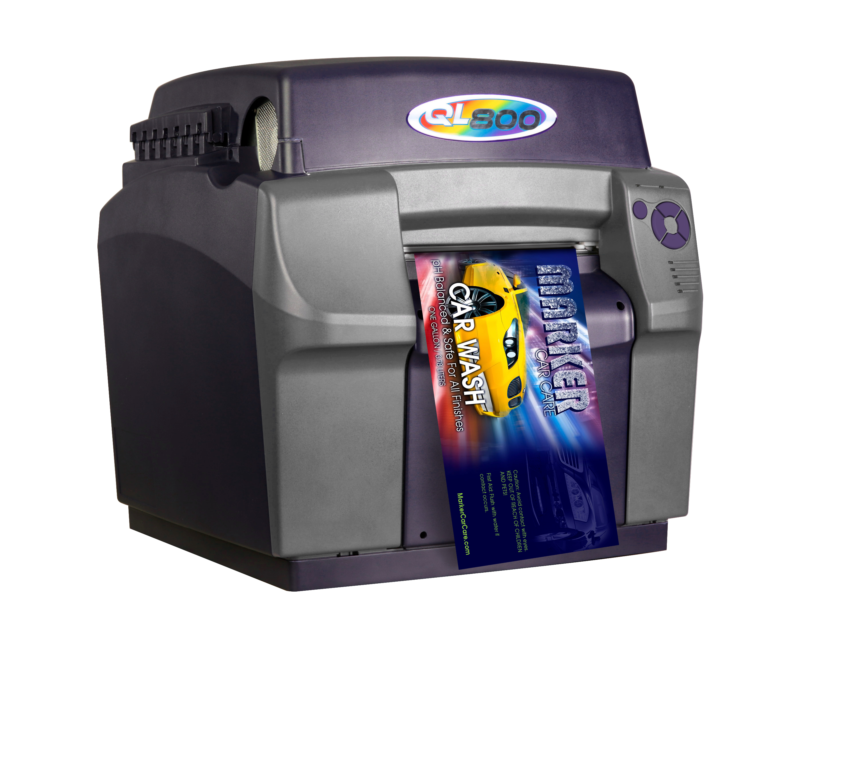 Color printer label - Full Size