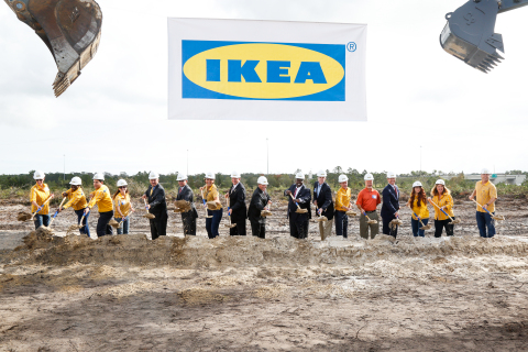 IKEA breaks ground on future Jacksonville store, slated to open Fall 2017. (Photo: Business Wire)