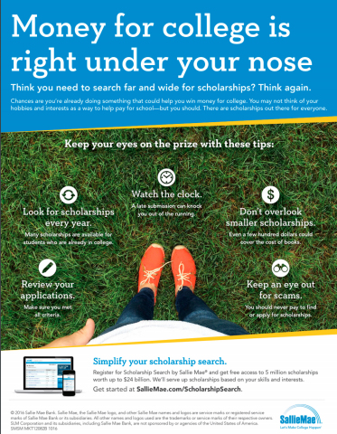 Sallie Mae's Scholarship Tips (Graphic: Business Wire)