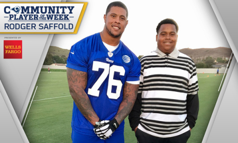 The Los Angeles Rams announced Rodger Saffold as the Rams Community Player of the Week presented by  ...