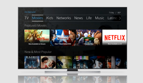 Comcast's X1 customers will be able to easily browse the extensive online collection of Netflix TV shows and movies alongside the programming included with their Xfinity TV subscription. (Photo: Business Wire)