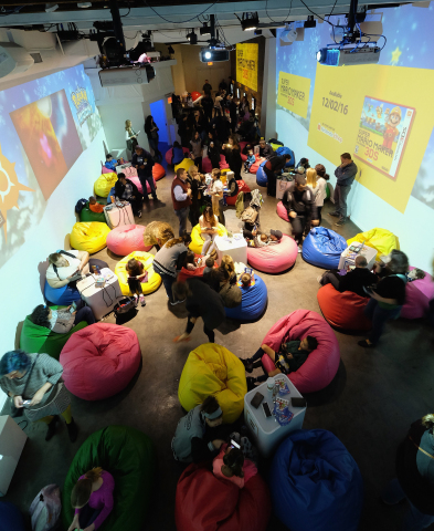 In this photo provided by Nintendo of America, attendees of the Nintendo 3DS Girls Gaming event played upcoming games such as Super Mario Maker for Nintendo 3DS and interacted with actress and recording artist Laura Marano. Nintendo celebrated girl gamers at Lightbox in New York on Saturday, Nov. 5. Nintendo inspires girls to play the way they want, whether they consider themselves adventurers, creators, heroes or athletes. (Photo: Business Wire)