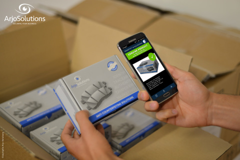 SAFE, the first smartphone application based on the intrinsic material of the product, that lets consumers verify its authenticity just like a fingerprint. (Photo: Business Wire)