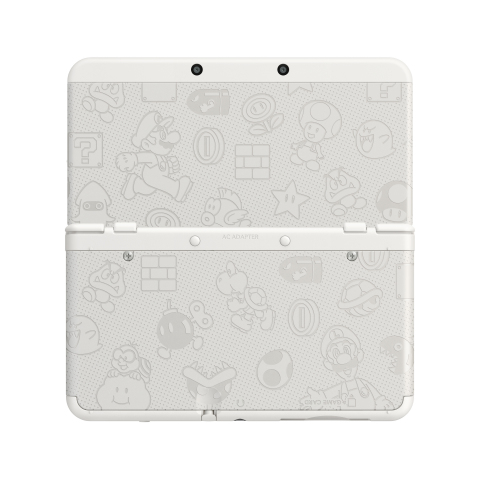 Two special-edition models – one black, one white, both featuring Mushroom Kingdom characters and imagery – will be available starting Nov. 25. (Photo: Business Wire)