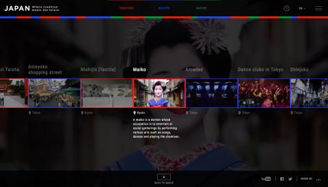 Anschauen des interaktiven Films (2): Wenn Sie mehr über eine Szene erfahren möchten, pausieren Sie den Film und wählen Sie aus der Liste die Informationen aus, die Sie interessieren. (Abbildung: Business Wire)
