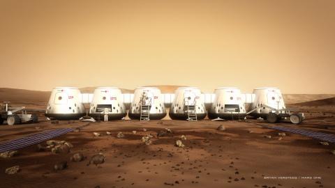 Mars One settlement (Photo: Mars One / Bryan Versteeg)