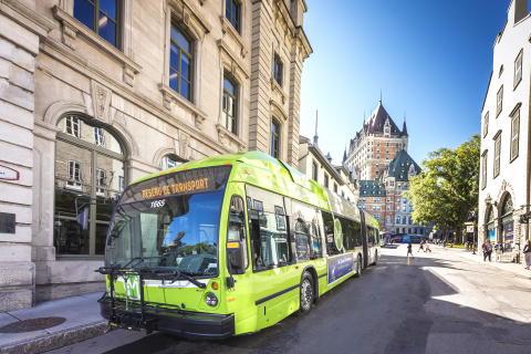 RTC's new buses are powered by BAE Systems' hybrid-electric drive system. (Photo: Réseau de transpor ...