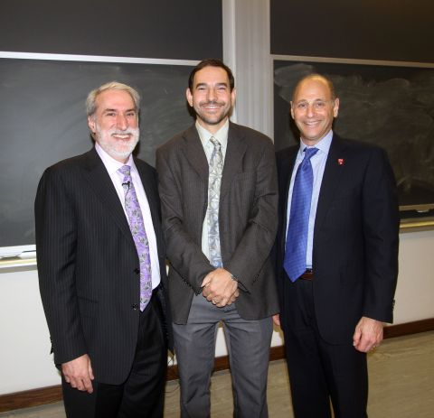 Left to right: Dan Nocera, Lecture Speaker and Patterson Rockwood Professor of Energy at Harvard University; Ivan Dmochowski, Professor of Chemistry at the University of Pennsylvania; and Barry Snyder, Axalta's Senior Vice President and Chief Technology Officer (Photo: Axalta)