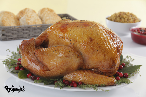The Bojangles' Seasoned Fried Turkey is a unique holiday offering and many consumers make it a part of their Thanksgiving meal every season. It is a delicious heat-and-serve product that is prepared using Bojangles' proprietary seasoning. (Photo: Bojangles')